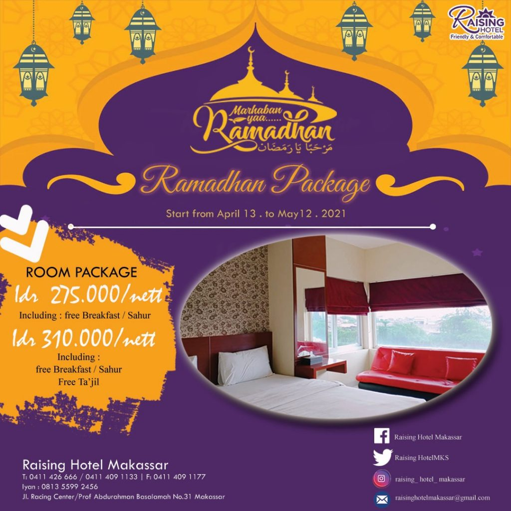 Spesial Ramadhan! Raising Hotel Makassar Tawarkan Tajil Murah dan Promo Kamar